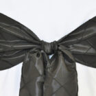 Rental Chair Sashes Pintuck Taffeta - Black