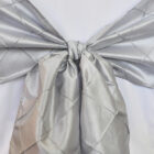 Rental Chair Sashes Pintuck Taffeta - Platinum
