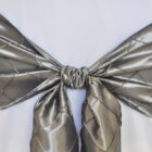 Rental Chair Sashes Pintuck Taffeta - Silver