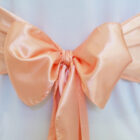 Rental Chair Sashes Satin - Apricot - Peach