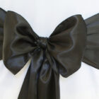 Rental Chair Sashes Satin - Black