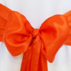 Rental Chair Sashes Satin - Orange