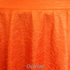 Rental Table Overlay Crushed Taffeta Square Houston Orange