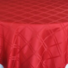 Rental Table Overlay Houston Square Plaid Jacquard Polyester Apple Red