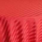 Rental Table Overlay Houston Square Striped Damask Polyester Apple Red