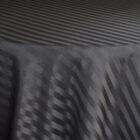 Rental Table Overlay Houston Square Striped Damask Polyester Black