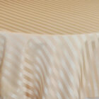Rental Table Overlay Houston Square Striped Damask Polyester Champagne