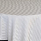 Rental Table Overlay Houston Square Striped Damask Polyester Ivory