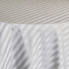 Rental Table Overlay Houston Square Striped Damask Polyester Silver