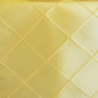 Rental Table Runner Pintuck Taffeta - Canary Yellow