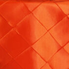 Rental Table Runner Pintuck Taffeta - Orange