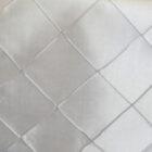 Rental Table Runner Pintuck Taffeta - Platinum