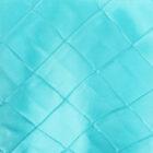 Rental Table Runner Pintuck Taffeta - Pool Blue