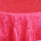 Ribbon Taffeta Table Overlay Square - Fuchsia