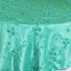 Ribbon Taffeta Table Overlay - Tiffany Blue