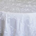 Ribbon Taffeta Table Overlay - White