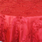 Ribbon Taffeta Table Overlay - Apple Red