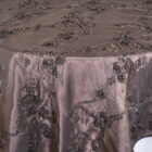 RibbonTaffeta Table Overlay - Chocolate