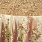 Ribbon Taffeta Table Overlay - Gold