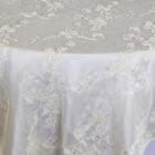 Ribbon Taffeta Table Overlay - Ivory