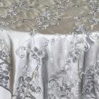 RibbonTaffeta Table Overlay - Silver