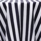 Stripe 132 Satin Round Tablecloth - Black and White