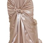 Rental Chair Cover Satin Universal Self Tie - Champagne