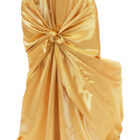 Rental Chair Cover Satin Universal Self Tie - Gold