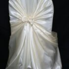 Rental Chair Cover Satin Universal Self Tie - Ivory