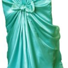 Rental Chair Cover Satin Universal Self Tie - Tiffany-Blue-Aqua